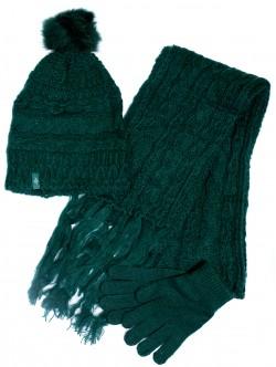 Шал, шапка и ръкавици комплект