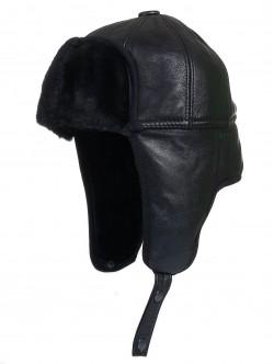 Мъжка шапка от естествена кожа