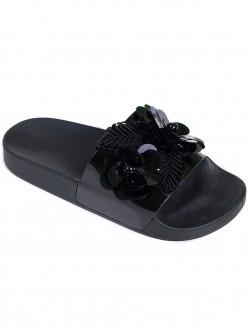 Дамски чехли с пайети
