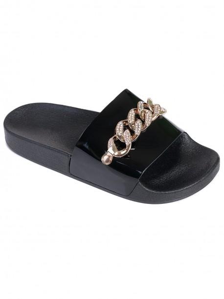 Дамски лачени чехли