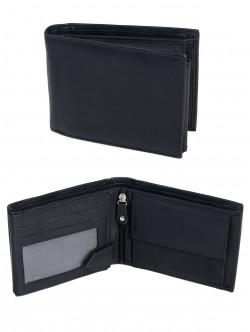 Черен портфейл от естествена кожа