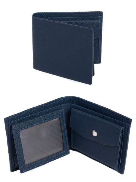 Тъмно син мъжки портфейл Q130# Deep blue