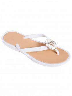 Дамски силиконови чехли - бели