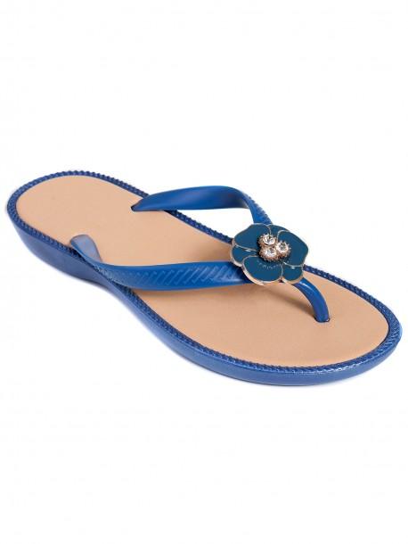 Дамски силиконови чехли - сини
