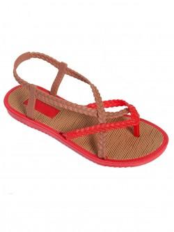 Силиконови сандали - червени