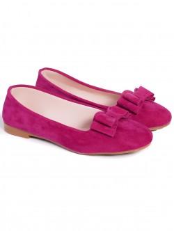 Пантофки с панделка - розови