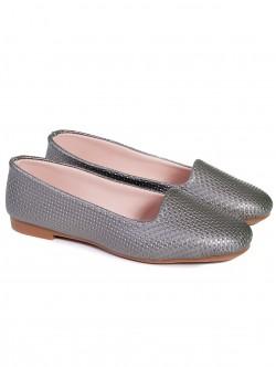 Ниски пантофки - сребро