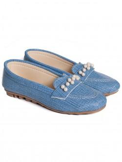 Дамски мокасини - сини