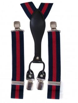 Тиранти за панталон - червено и синьо