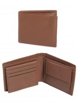 Кафяв портфейл естествена кожа