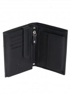 Черен кожен портфейл