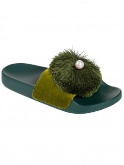 Чехли с перла - зелени