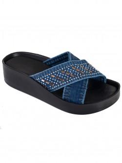 Дънкови чехли за жени