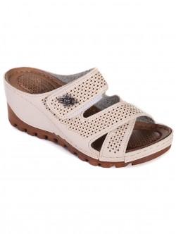 Бежови ортопедични чехли