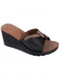 Дамски чехли на висока платформа