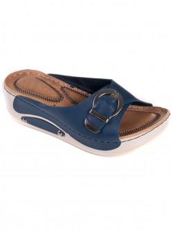 Чехли за широк крак - сини