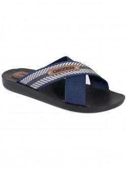 Мъжки чехли Gezer синьо и сребристо