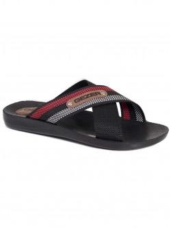 Мъжки чехли Gezer - черно с червено