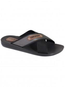 Мъжки чехли Gezer - черно и сребристо