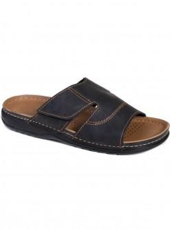 Мъжки чехли с лепка - черни