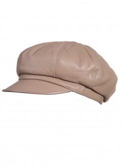 Елегантен дамски каскет от естествена кожа