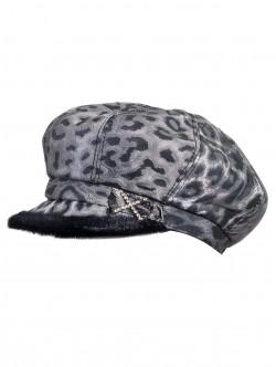 Дамски каскет с тигров десен