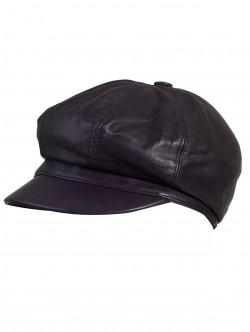 Дамски каскет цвят патладжан