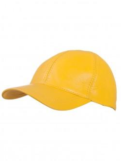 Шапка с козирка - жълта