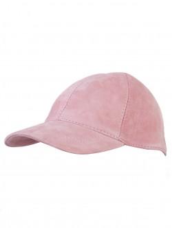 Шапка от велур - розова