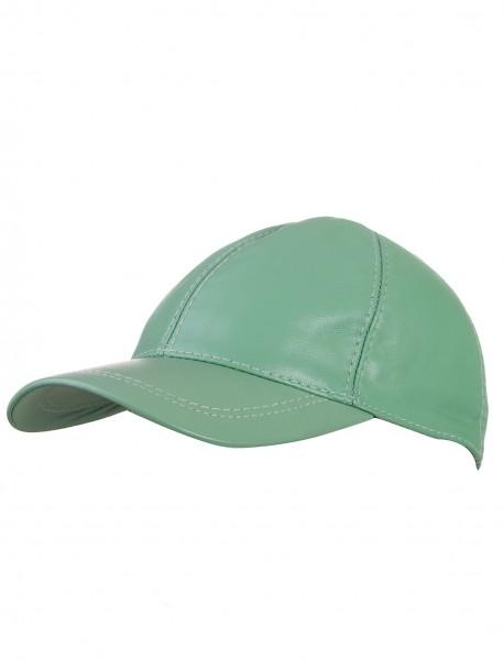 Шапка с козирка - зелена