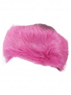 Дамска шапка от кожа - розова