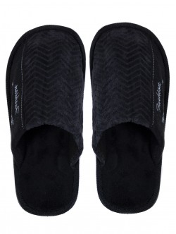 Мъжки домашни пантофи - черни