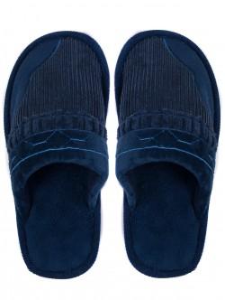Топли мъжки пантофи - сини