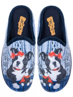 Дамски домашни пантофи - сини