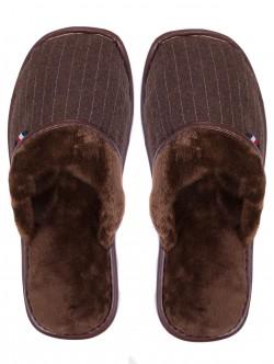 Домашни пантофи за мъже - кафяви