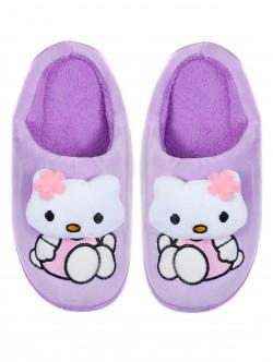 Домашни пантофи за деца - лилави