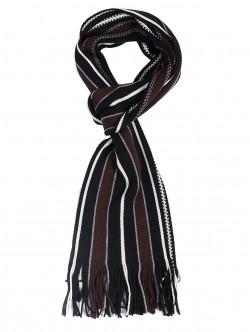 Мъжки шал в кафяво и черно