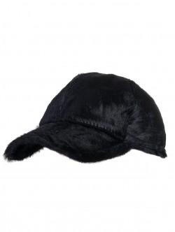 Черна шапка с козирка - Пони