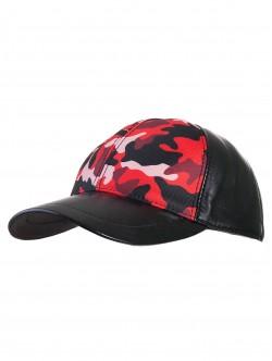 Камулажна шапка с козирка - червена