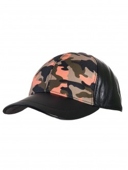 Камулажна шапка с козирка - зелена