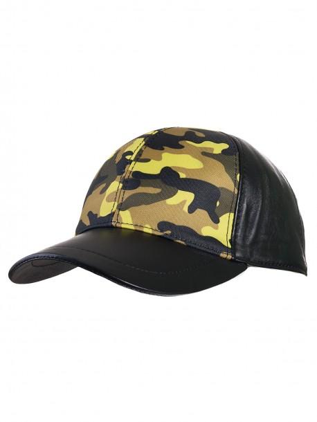 Камулажна шапка с козирка - жълта