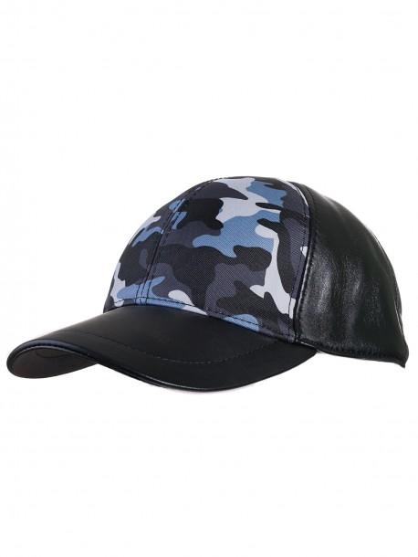 Камулажна шапка с козирка - синя