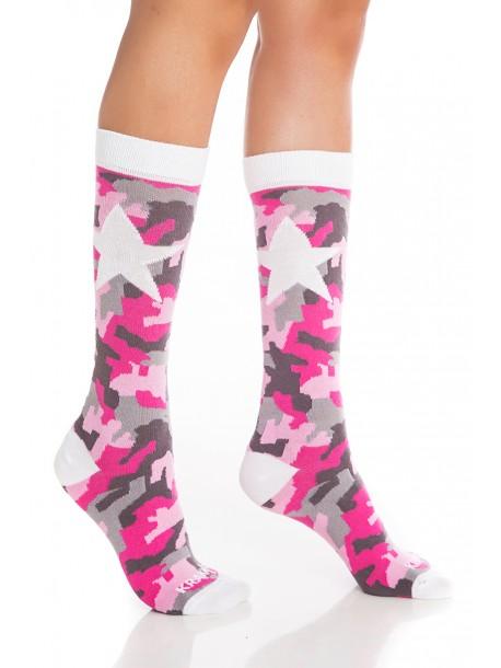 Дамски чорапи Милитъри Стар Пинк
