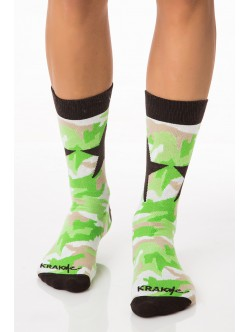 Мъжки чорапи Милитъри Стар Грийн