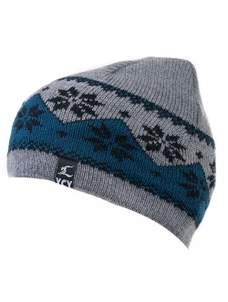 Мъжка зимна шапка - сива