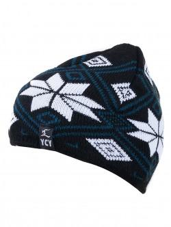 Мъжка зимна шапка - черно и бяло
