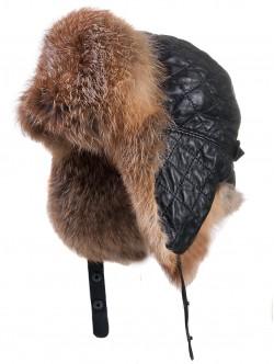 Зимна ушанка от вълк