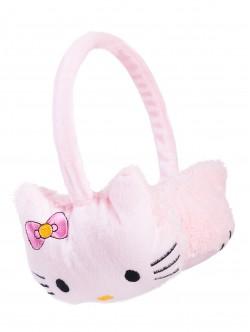 Детски наушници Кити - светло розови