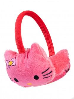 Детски наушници Кити - тъмно розови