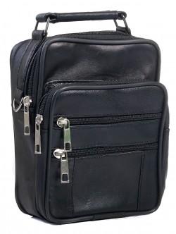 Чанта за мъже от естествена кожа - голяма